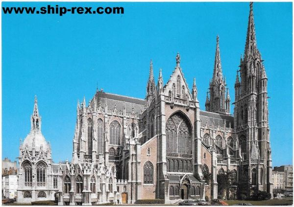 Ostend (Belgium) St Petrus and St Paulus church, postcard (a)